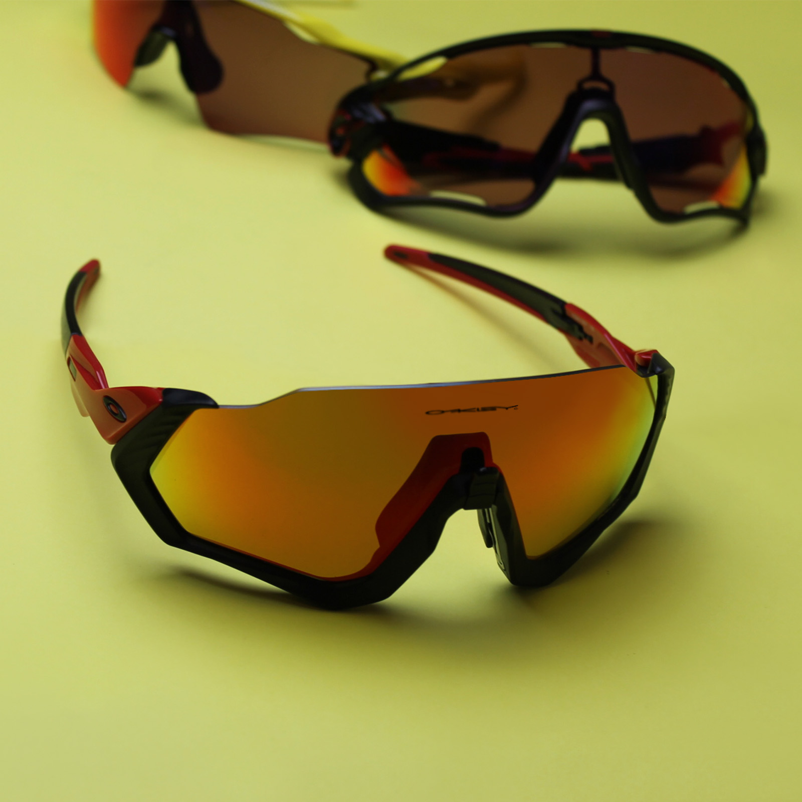 Oakley Flight Jacket Sunglasses for Mountain Biking | EyeWearThese.com