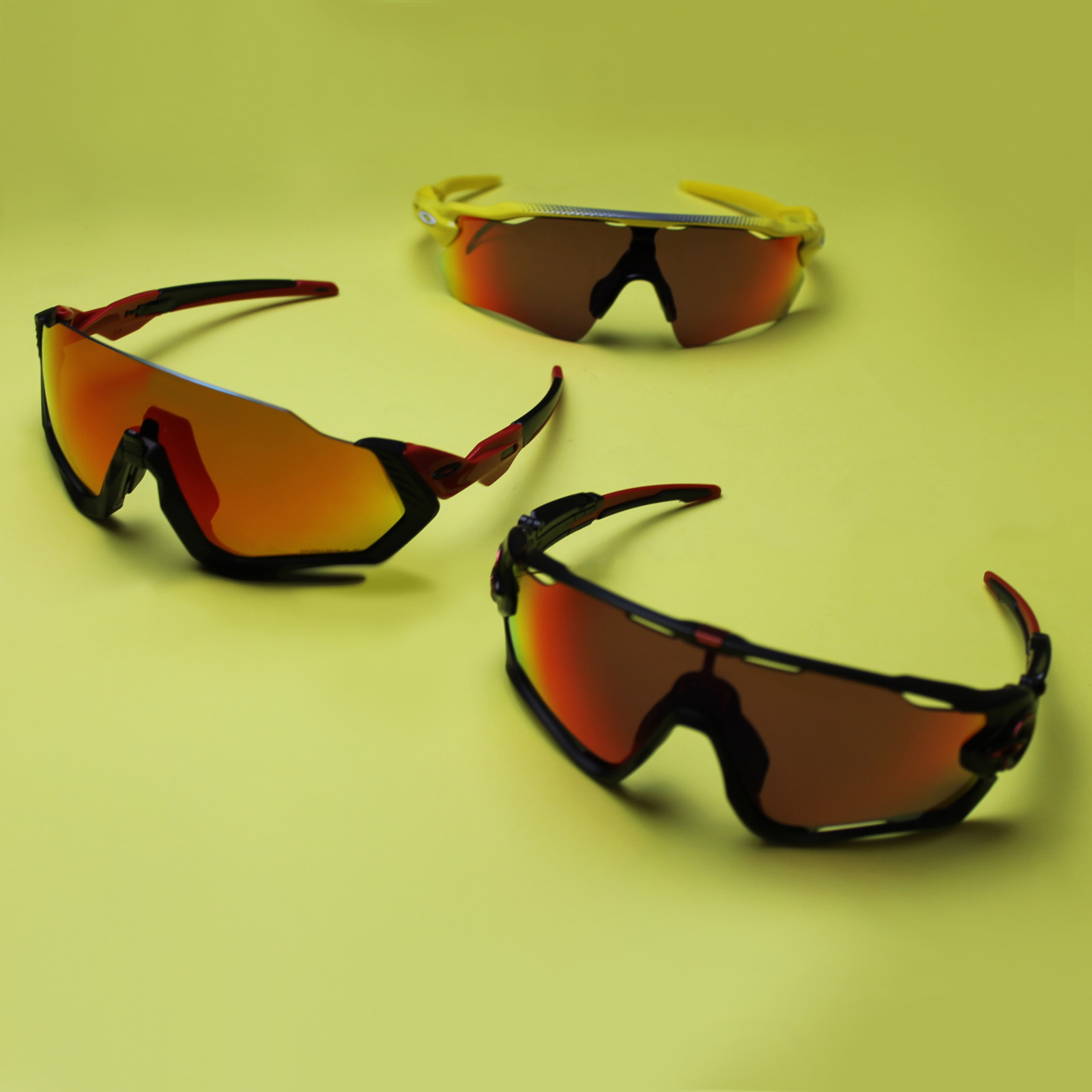 Oakley Sunglasses for Mountain Biking Lined up | EyeWearThese.com