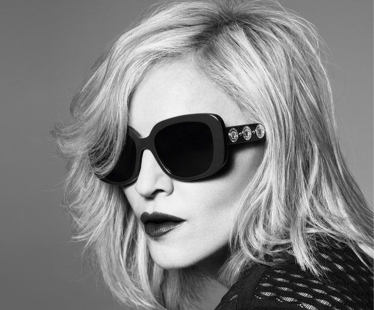 Maddona Wearing Versace Sunglasses