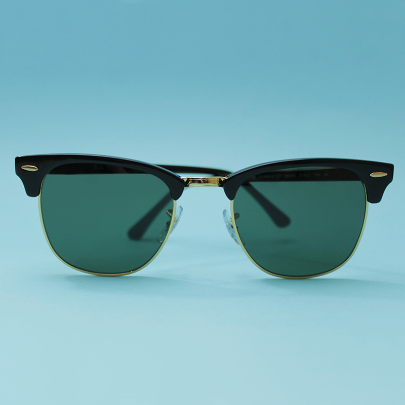 Ray-Ban Clubmaster 3016 Sunglasses Review Front on Image of Ray-Ban Clubmaster | EyeWearThese.com
