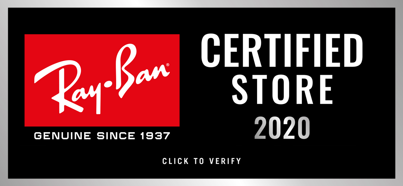 Ray-Ban certified reseller, click to verify