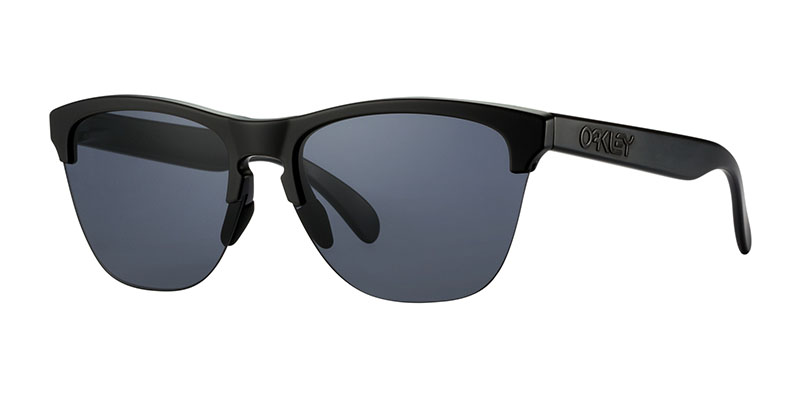 Oakley Frogskins Lite oo9374 sunglasses angled image black with grey lens