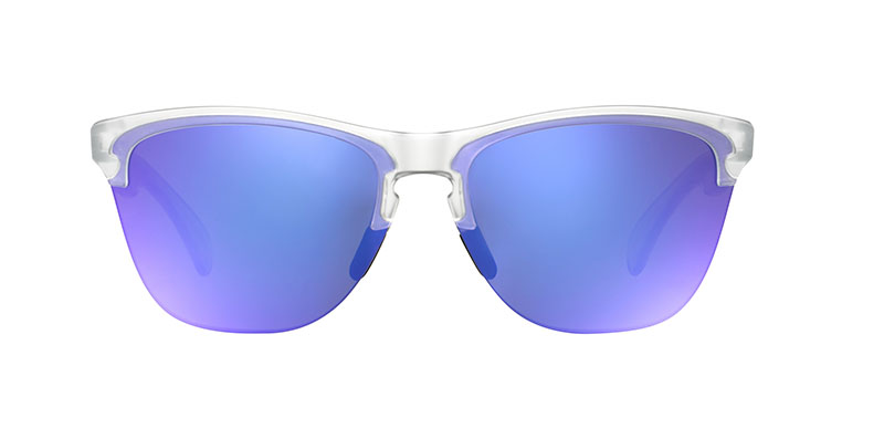 Oakley Frogskins Lite oo9374 sunglasses front image clear with violet lens