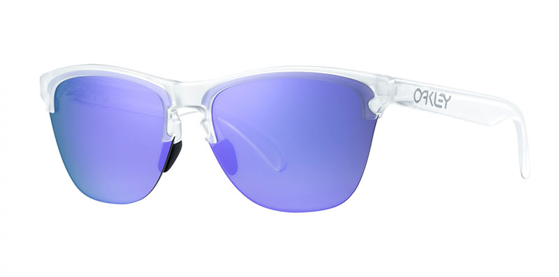 Oakley Frogskins Lite oo9374 sunglasses quarter image clear with violet lens