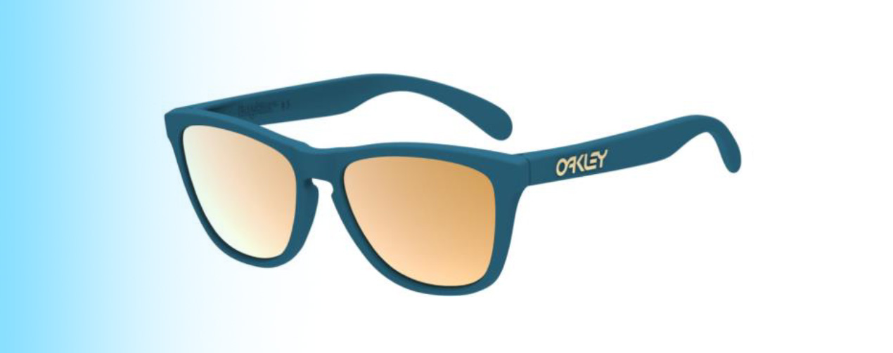 Oakley Frogskins® XS OJ9006 | Oakley Frogskins® XS OJ9006 in blue with gold lenses | EyeWearThese.com