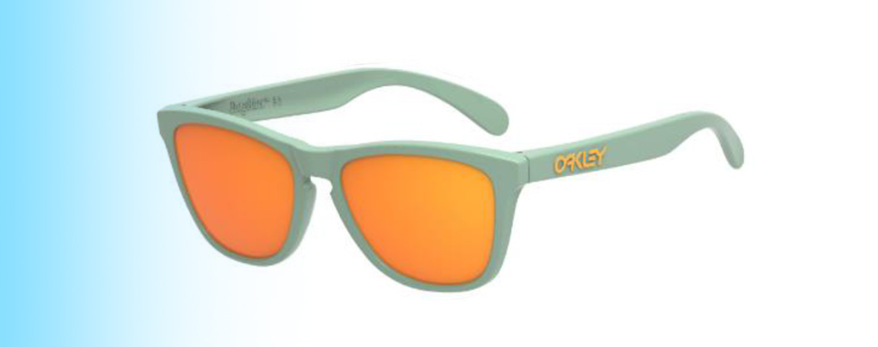 Oakley Frogskins® XS OJ9006 | Oakley Frogskins® XS OJ9006 in Green with Orange lenses | EyeWearThese.com