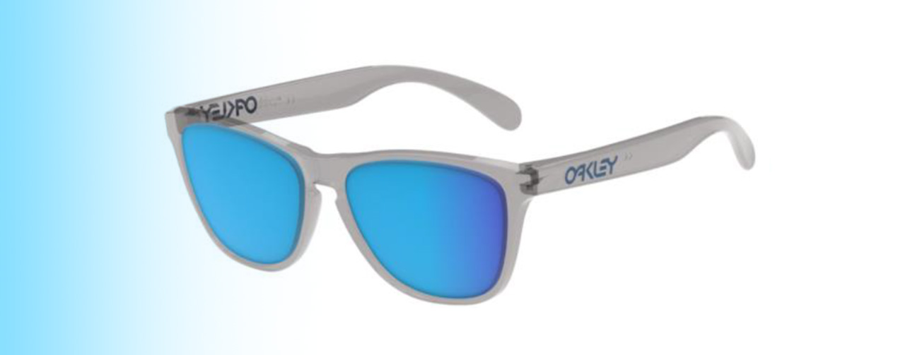 Oakley Frogskins® XS OJ9006 | Oakley Frogskins® XS OJ9006 in Grey with Blue lenses | EyeWearThese.com
