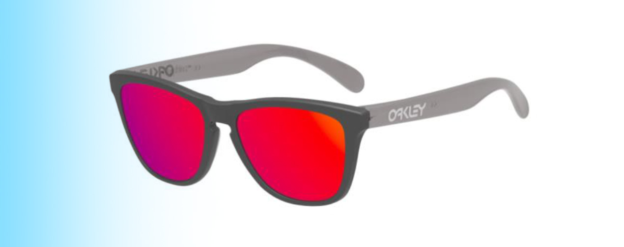 Oakley Frogskins® XS OJ9006 | Oakley Frogskins® XS OJ9006 in Grey with Red Lenses | EyeWearThese.com