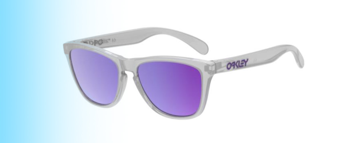 Oakley Frogskins® XS OJ9006 | Oakley Frogskins® XS OJ9006 white frames with purple lenses | EyeWearThese.com