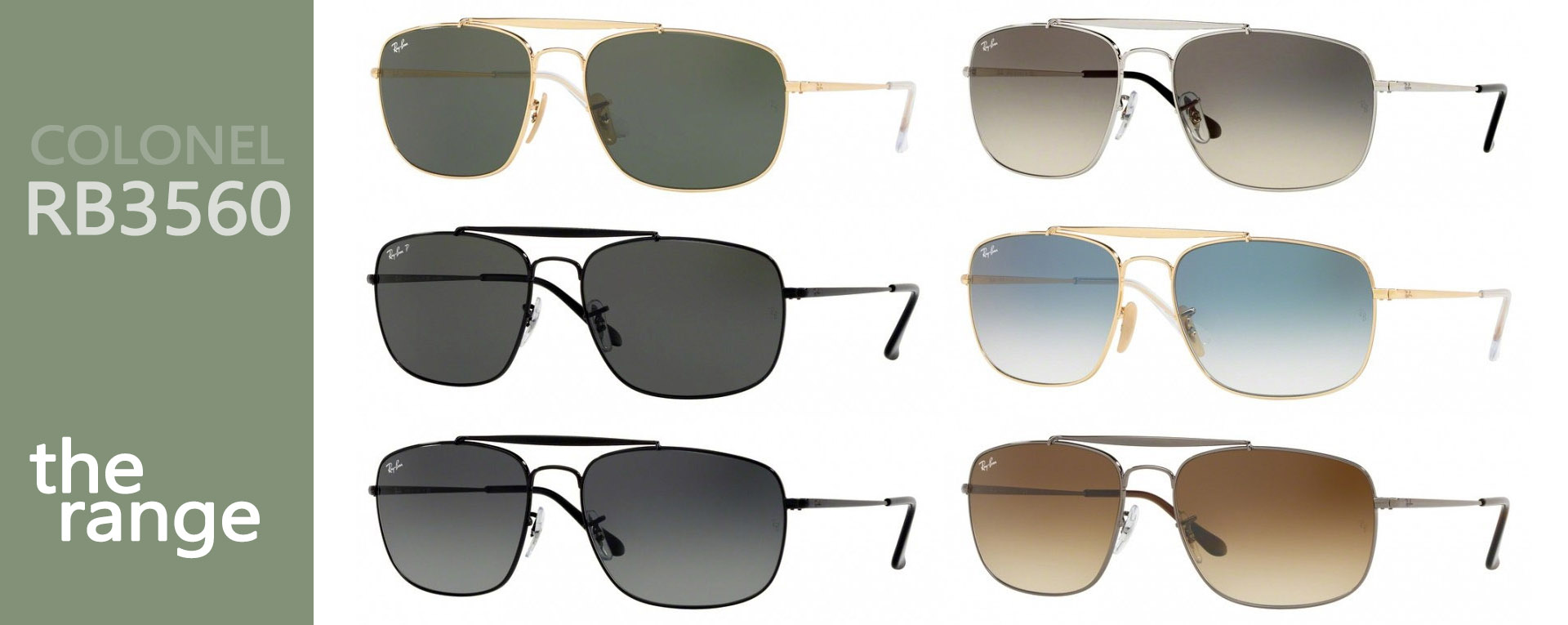 Ray-Ban Colonel RB3560 | Colonel Full range | EyeWearThese offical online sellers