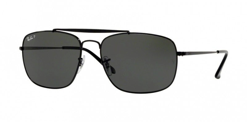 Ray-Ban Colonel RB3560 Sunglasses | Ray-Ban Colonel RB3560 Sunglasses in Black with Black polarized lenses | EyeWearThese.com