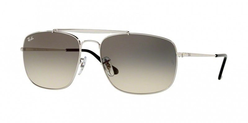 Ray-Ban Colonel RB3560 Sunglasses | Ray-Ban Colonel RB3560 Sunglasses in silver with Grey Gradient lenses small | EyeWearThese.com