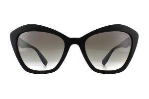 Miu Miu MU 05US Black 1AB5O0 55mm Sunglasses | EyeWearThese