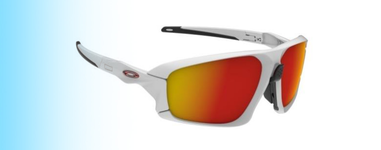 Oakley Field Jacket OO9402 | Oakley Field Jacket OO9402 in white with orange lenses | EyeWearThese.com