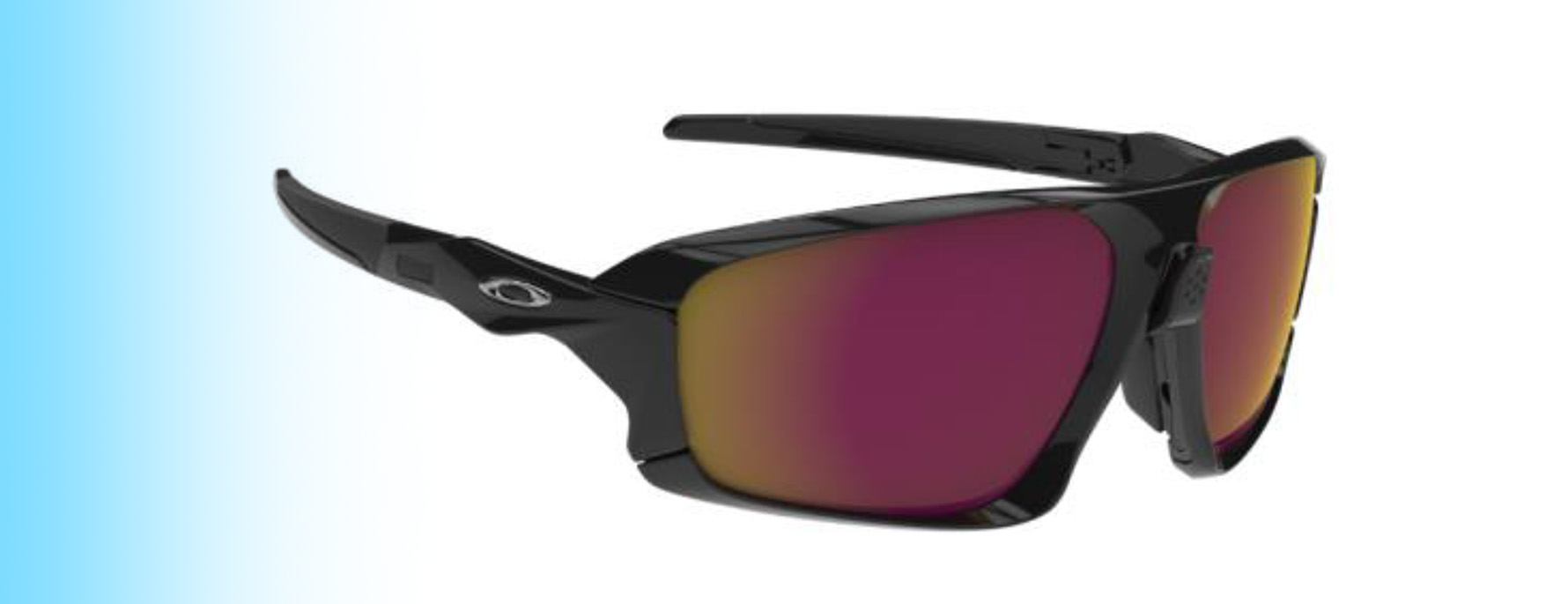 Oakley Field Jacket OO9402 | Oakley Field Jacket OO9402 in black with purple and yellow lenses | EyeWearThese.com