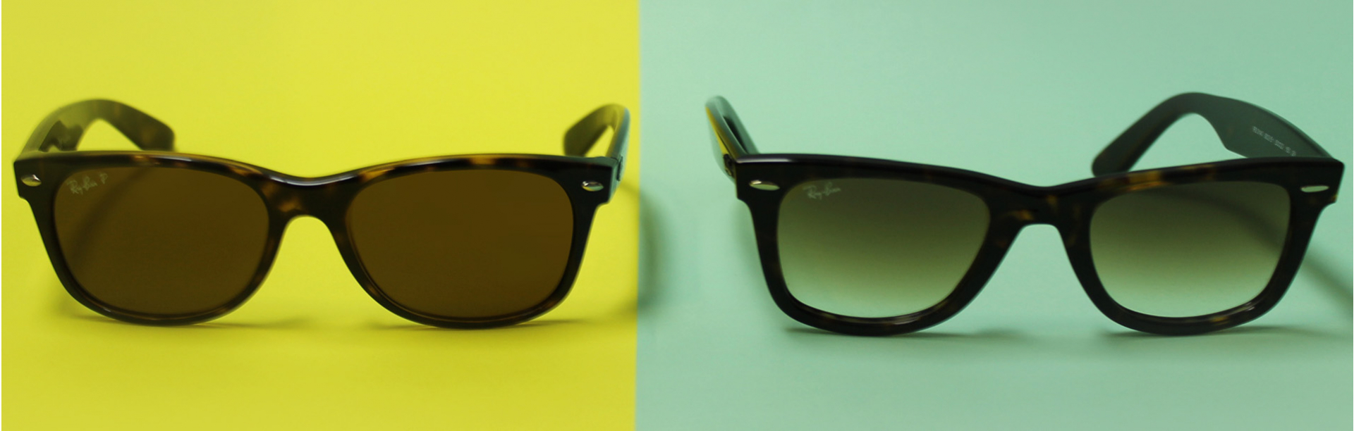 Ray-Ban Wayfarer Sunglasses | Ray-Ban Wayfarer and New Wayfarer | Ray-Ban Wayfarer vs New Wayfarer Banner | EyeWearthese